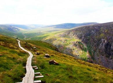 A hiking trail in Glendalough, Co Wicklow.