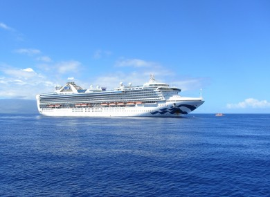 The Grand Princess cruise ship.