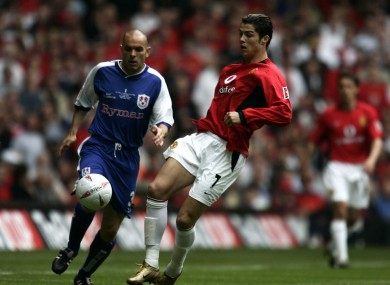 Robbie Ryan in action for Millwall against Manchester United in the 2004 FA Cup final.