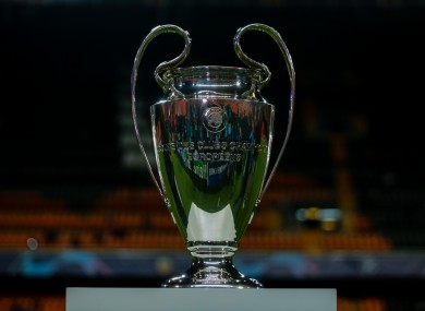 The Champions League trophy, which looks unlikely to be lifted on schedule.