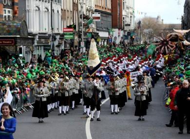 St Patrick's Day in Dublin in 2019.