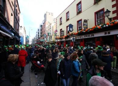 St Patrick's Day in Dublin last year.