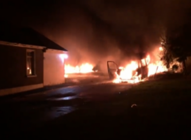 File photo of a fire at the property in December 2018.