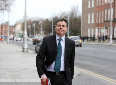 File photo. Minister for Finance Paschal Donohoe.
