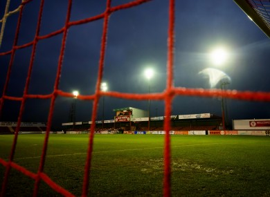 Sligo Rovers' Showgrounds: games could be played behind closed doors.