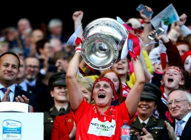 Aoife Murray after Cork's All-Ireland camogie winning success in 2018.