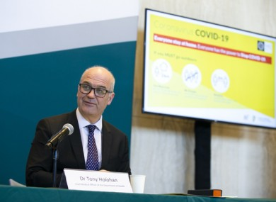 Chief Medical Officer Tony Holohan at a Department of Health briefing earlier this week.