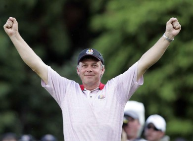 Darren Clarke salutes the crowd with tears in his eyes at the 2006 Ryder Cup.