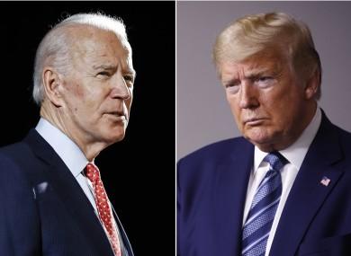 Joe Biden and Donald Trump (file photos).