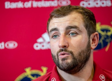 File photo of Munster Rugby player James Cronin.