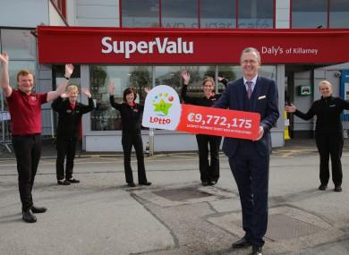 Celebration in Daly's SuperValu, Killarney.