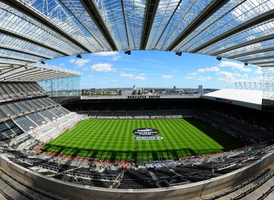 St James' Park, home ground of Newcastle United.