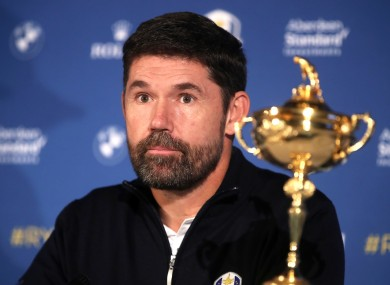 Pádraig Harrington is scheduled to captain Europe at the Ryder Cup, which is due to take place from 25-27 September.