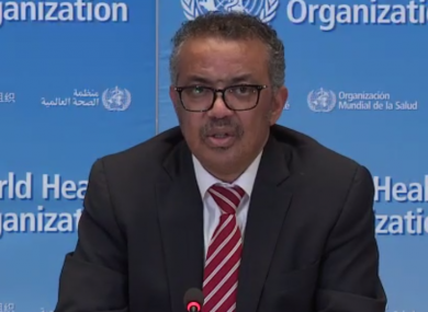 WHO director general Tedros Adhanom.