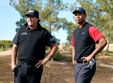 Money in the bank: Mickelson defeated Woods in 2018 in a one-on-one matchup for $9 million.