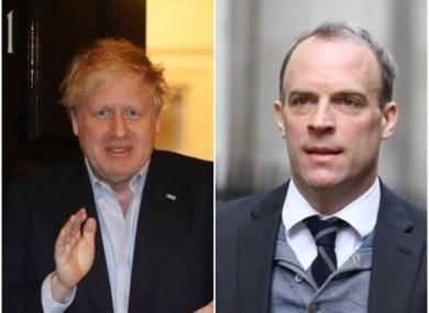 UK Prime Minister Boris Johnson and Foreign Secretary Dominic Raab.