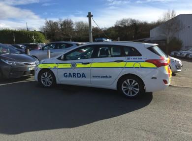 File photo of garda car.