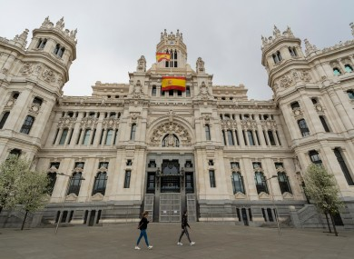 City Hall in Madrid, which was locked down during the pandemic.