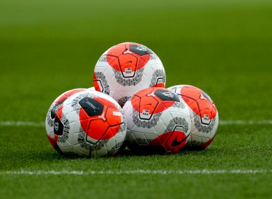 A general view of match balls.
