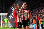 Southampton strikers Shane Long and (left) Danny Ings.
