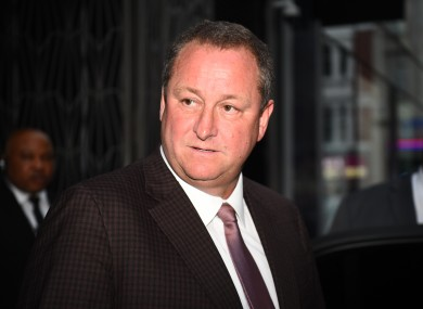Newcastle owner Mike Ashley.