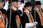 Bandsmen and Orange Order members at last year's Belfast parade.