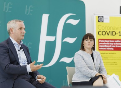 Paul Reid, CEO of the HSE and Niamh O'Beirne, Executive Management Team at the HSE.