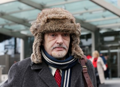 File photo. Ian Bailey leaving the High Court in February.