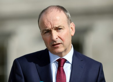 Micheal Martin says he's in favour of the wearing of face masks.