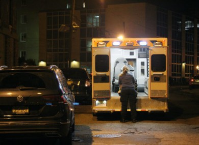 An ambulance in Jersey City, New Jersey.