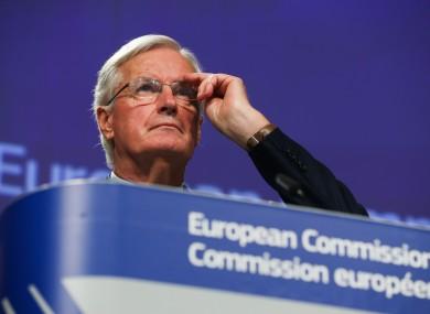 File image of the EU's chief Brexit negotiator Michel Barnier.