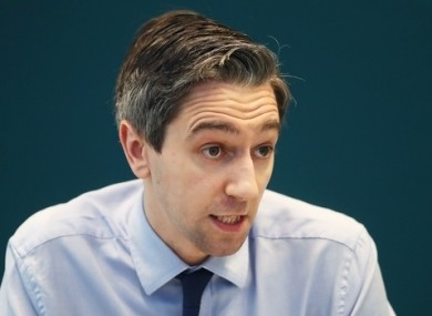 Minister for Health Simon Harris was speaking in the Dáil this afternoon.