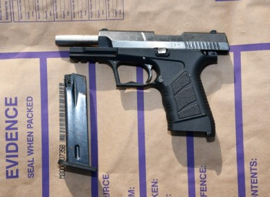 Firearm seized during the searches.