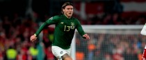 Jeff Hendrick in action for Ireland.