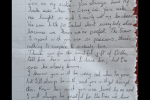 Susan O'Neill's letter to her sister Lorna O'Neill.