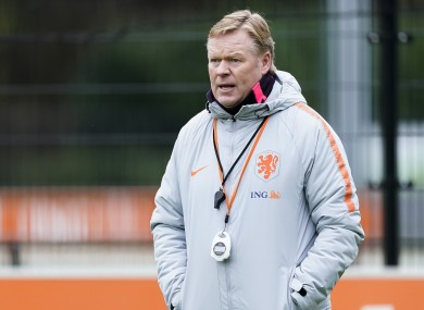 Holland boss Ronald Koeman