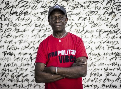 Tony Allen pictured in April 2017 ahead of a concert with Cheikh Lo in Dakar, Senegal.