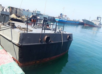 The Konarak support vessel which was struck during a training exercise in the Gulf of Oman.