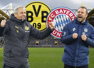 Six-pointer: the two coaches Lucien Favre of Borussia Dortmund and Bayern's Hans Dieter Flick.