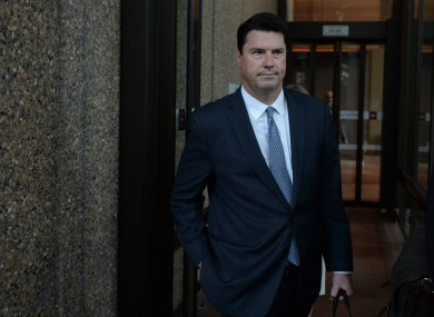 File photo: Hamish McLennan, then CEO of the Ten Network, departing court.