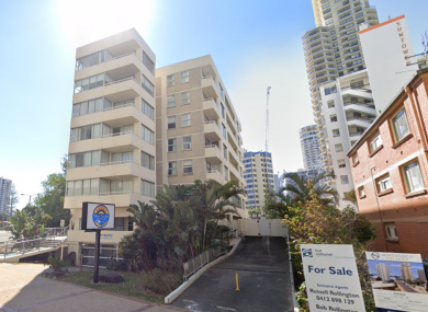 The apartment complex on View Avenue in Brisbane.