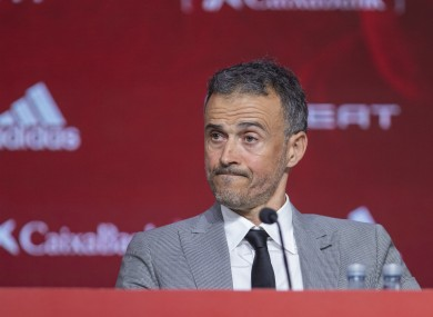Spain coach Luis Enrique.