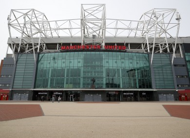 United's home ground, Old Trafford.