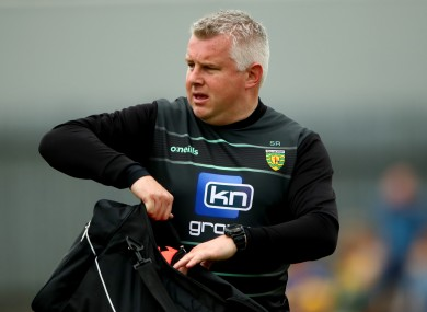Stephen Rochford: one of the game's modern coaches.
