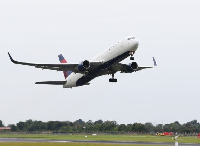 File image of plane takeoff at Dublin Airport.