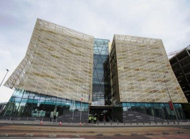 The Central Bank building in Dublin.