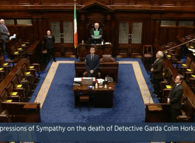 TDs standing for a minute's silence this morning.