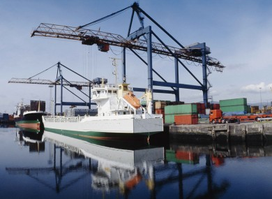 File photo of docks in Belfast, NI.