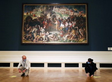 The team in the National Gallery prepare for the re-opening.