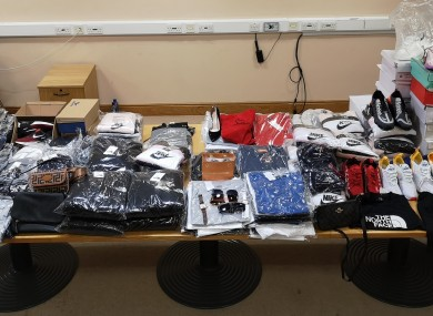 Items seized by gardaí during the searches